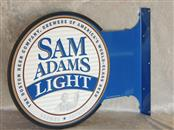 Samuel Sam Adams Light Boston Lager 2 Sided Metal Beer Sign